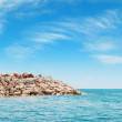 Azure seand rocky island — Stock Photo #37163783