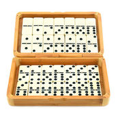 Domino in box — Stock Photo