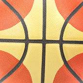 Closed up view of basketball for background — Stock Photo