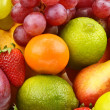 Bright background of ripe fruit — Stock Photo