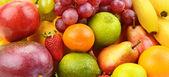 Bright background of ripe fruit — Foto Stock