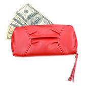 Wallet with dollar bills — Stock Photo