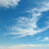 蓝蓝的天空中的云 — 图库照片