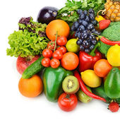 Fruit and vegetable  on white background — 图库照片