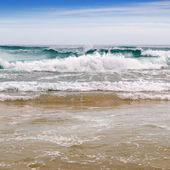 Sea, sand beach and blue sky — Foto de Stock