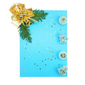 Christmas decorations and card for congratulations — Stockfoto