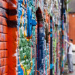 Royalty-Free Stock Photo: Graffiti wall with painters