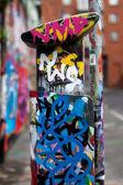 Graffiti sur machine de stationnement — Photo