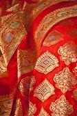 Orange sari — Stockfoto