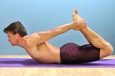 Bow yoga pose — Stock Photo