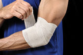 Elbow injury — Stock Photo