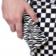 Zebra and checker pattern — Stock Photo