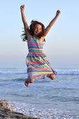 Joy at the beach — Stock Photo