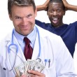 Greedy doctor — Stock Photo #25761917