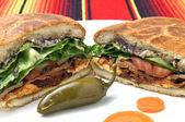 Mexican sandwich — Stock Photo