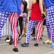 Patriotic runners — Stock Photo