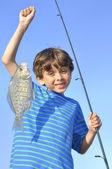 Young fisherman — Stock Photo