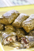 Grape leaf dolmades — Stock Photo