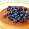 Blueberry flan — Stock Photo