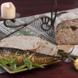 Fish and bread — Stock Photo