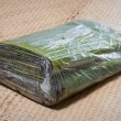 Bag of banana leaves — Stock Photo