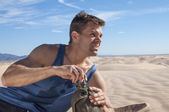 Dehydration in desert — Stock Photo