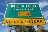 Mexico Right Lane sign — Stock Photo