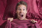 Nightmare in bed — Stock Photo