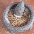 Stock Photo: Grinding wheat