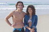 Happy couple at beach — Stock Photo