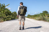 Road hiker — Stock Photo