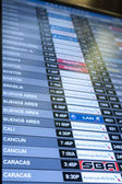 Air travel schedule — Stock Photo