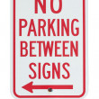 No parking sign — Stock Photo #44639381