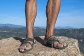 Primitive sandals — Stock Photo