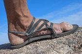 Walk in my sandals — Stock Photo
