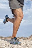 Rugged trail running — Stock Photo