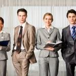 Row of professionals — Stock Photo #11123891
