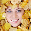 Face in foliage — Stock Photo #11628086