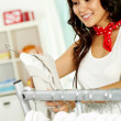 Shopper in clothing department — Stock Photo #11674007