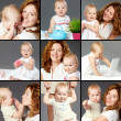 Woman and baby — Stock Photo