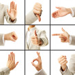 Language of gestures - Stock Photo