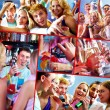 Party in restaurant — Stock Photo