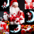 Collage of Santa Claus - Stock Photo