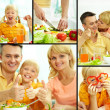 healthy family — Stock Photo