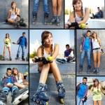 Teens at leisure — Stock Photo