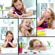 Girl drawing — Stock Photo #12225441