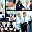 Stock Photo: Working day of businesspeople