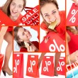 Shopaholic on sale - Stock Photo