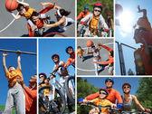 Família desportiva — Foto Stock