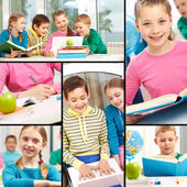 Beginners in school — Stock Photo